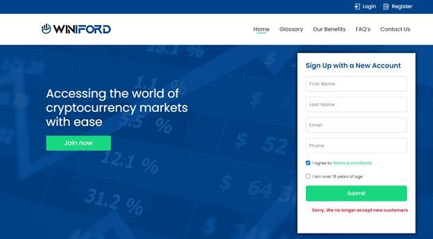 trade crypto with Winiford