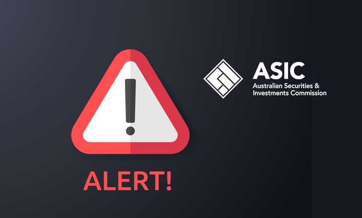 ASIC warns against entities