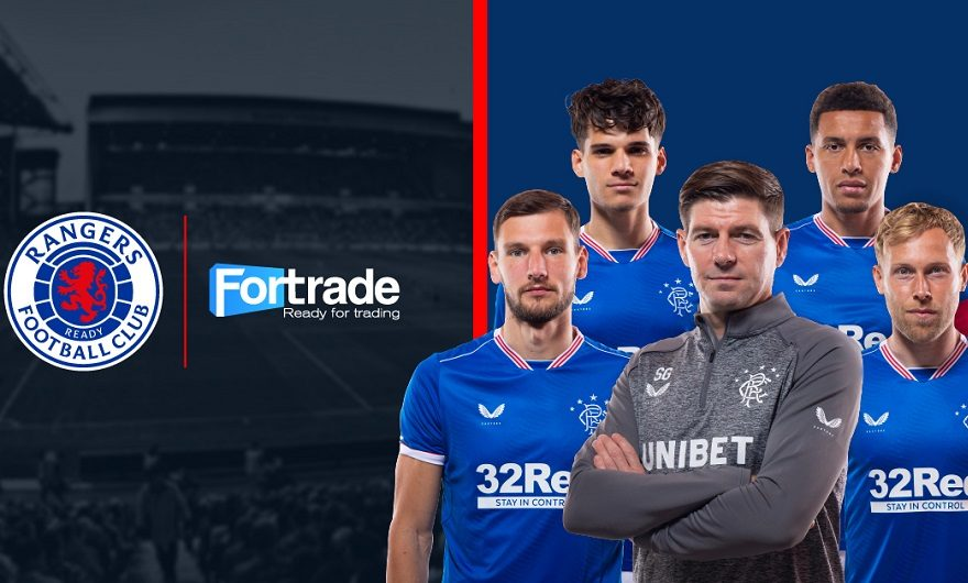 Fintech firm Fortrade announces official online trading partnership with the Rangers