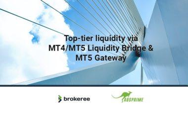 Brokeree Solutions integrates Liquidity Bridge with Ausprime
