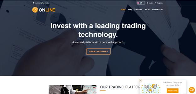 7Online crypto trading platform