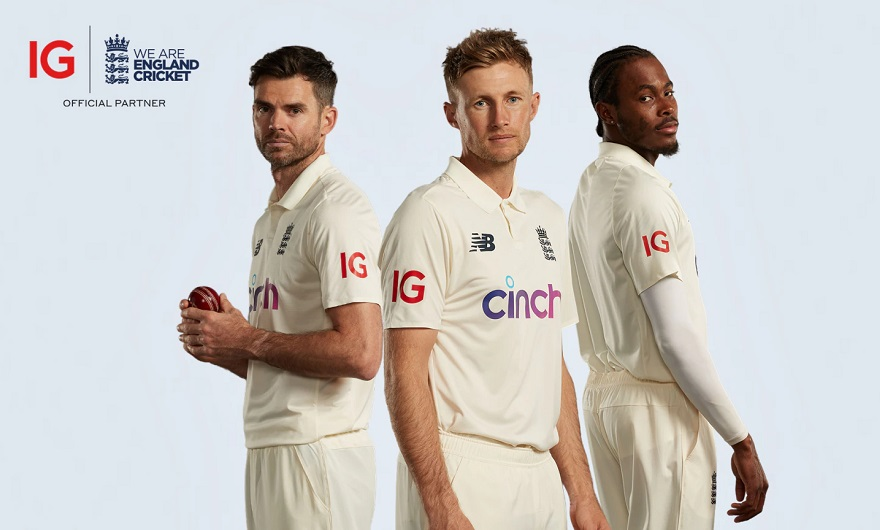IG signs a three-year deal with England's cricket team