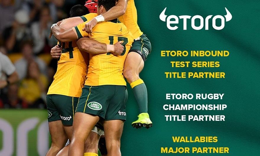eToro becomes a major partner of Rugby Australia