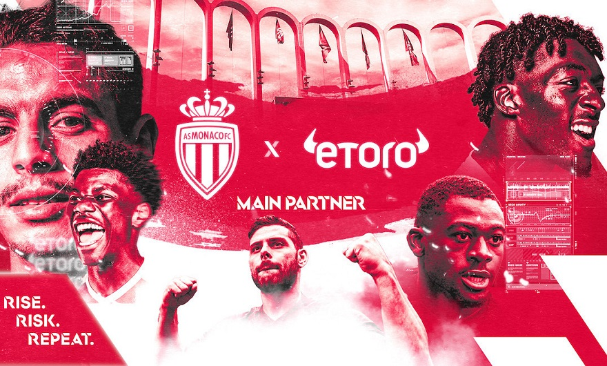 eToro strengthens relationship with AS Monaco, becomes main partner